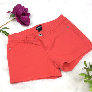 Wet Seal Coral Stretch Shorts Size Juniors L